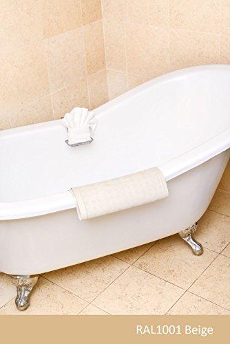 Badewannenlack in RAL-Farben Innen und Aussen Schnelle Trocknung Grundierung + Decklack | BEKATEQ LS-410 2K Badewannenbeschichtung Badewanne Streichen | Extrem widerstandsfähig | Lack für Badewanne, Duschwanne, Waschbecken, GFK Wanne, Kunststoffwanne, Stahlwanne | Fliesenlack Fliesenfarbe Badewannenfarbe (2,5KG, RAL1001 Beige)