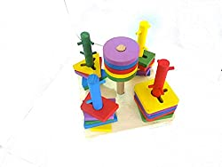 Wooden colorful Shape Sorted Geometric Sorting Board