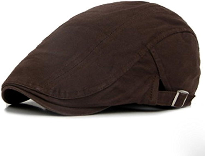 ZHANGYUQI Berretto di cotone Coloreeee confortevole traspirante uomo  britannico Coloreeee cotone solido anatra lingua berretto anteriore 6a668aaefb90