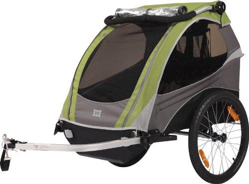 Burley Fahrrad Kinder Anhänger Wagen D`Lite Wasserabweisend Federung Kompakt 48 Liter, D`LITE grün