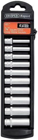 Draper 48851 1/4 inch 6 point 10 Piece Deep Socket