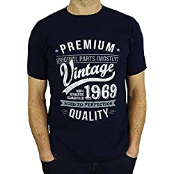 1969 Vintage Year - Aged to Perfection - 50 Ans Anniversaire Homme Cadeaux T-Shirt Marine Bleu L