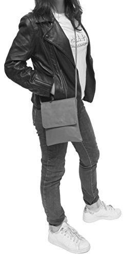 histoireDaccessoires - Pochette Pelle Donna - PO155734-GE-Capucine Rosso rubino
