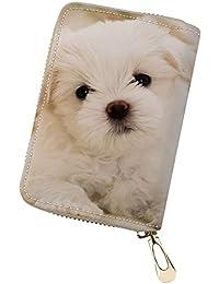 125256d8d7608 Geldbörse Brieftasche Hund Leder Portemonnaie Geldbeutel Kupplung  Reißverschluss Reise Tasche Damen Herren