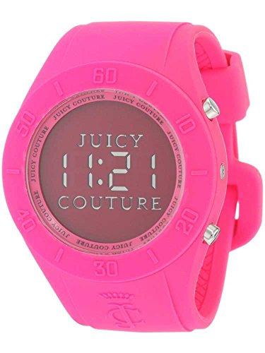 Juicy Couture Ladies Digital Alarm Pink Rubber Strap Watch 1900881
