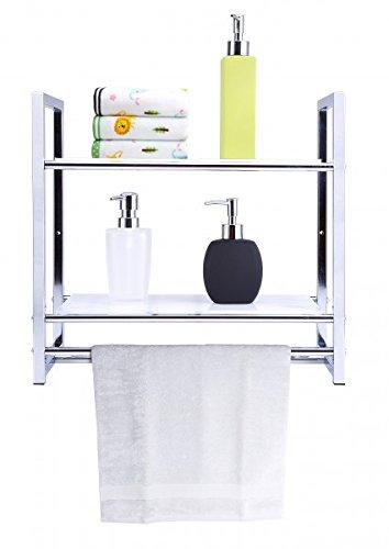 wandregal 2 etagen metall ablage badreagal badablage bad regal duschregal. Black Bedroom Furniture Sets. Home Design Ideas
