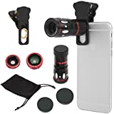 Best Cell Phone Cameras - Phone Lens Universal 4 in1 Clip-on Cell Phone Review