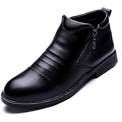 Scarpe calde/Aggiungere peluche stivali imbottiti/Stivaletti uomo/ breve tubo le scarpe dell'Inghilterra