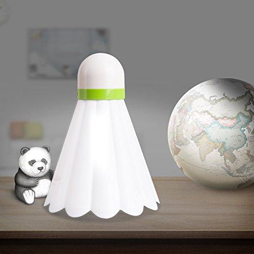 Home-akzente-boden-lampe (Vsee Creative Badminton LED Nachtlicht USB nachladbare Kinder Baby Schlafzimmer Lampe weiß (weiß))