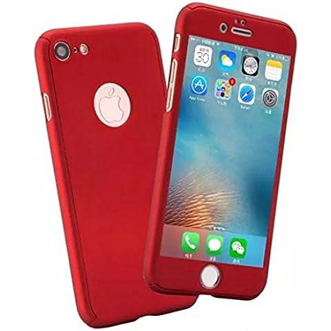 Custodia iPhone 6/6s 360 Gradi, Yoowei® Ultra Sottile PC Copertura Anteriore Indietro Cover con Pellicola Vetro Temperato Protettiva Schermo Protezione completa del corpo Duro Case per iPhone 6/6s 4.7