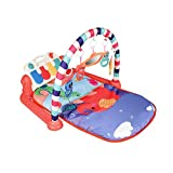 popchilli 3 In 1 Baby Game Pad - Baby Fitness Matte Mit Spielmöglichkeiten, Musik Und Beleuchtung Piano, Kriechende Matte Kinder Spielen Matte Für 3-12 Monate Kinder functional