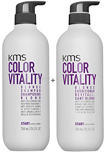 KMS California COLORVITALITY Blonde Set - Shampoo 750ml + Conditioner 750ml - NEU