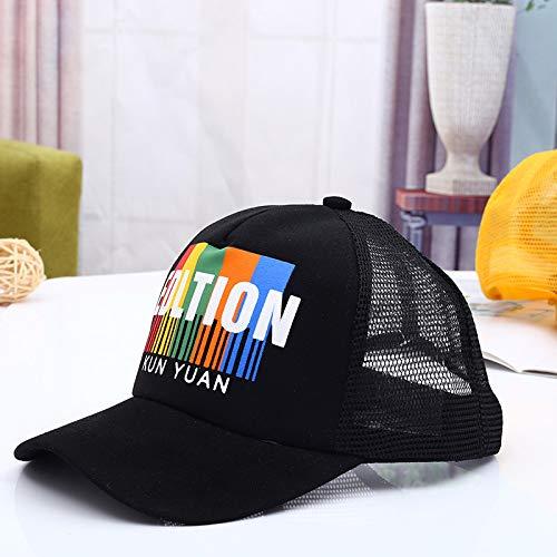 Kostüm Hut Diktator - mlpnko Alphabet Baseball Cap Kinder Hut Neu Jungen und Mädchen Netz Hut Kinder Sonnenhut schwarz 50-52cm geeignet für 2-6 Jahre