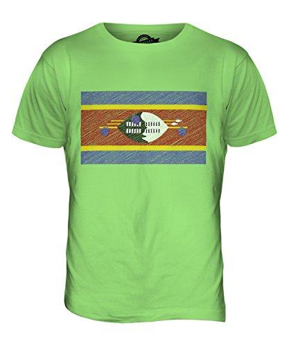 CandyMix Swasiland Kritzelte Flagge Herren T Shirt Limettengrün