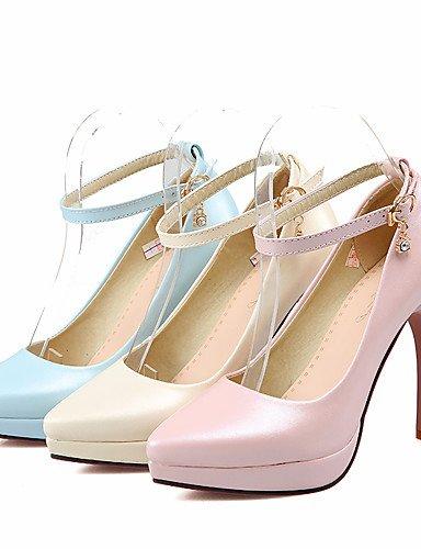 WSS 2016 Chaussures Femme-Bureau & Travail / Décontracté-Bleu / Rose / Beige-Talon Aiguille-Talons / A Plateau / Confort / Bout Pointu-Talons- beige-us9.5-10 / eu41 / uk7.5-8 / cn42