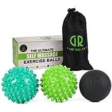 GR Igelball Massageball - Weich & Hart massageball Mit Noppen - Hilft bei Linderung von Verspannungen und Stress - Perfekt für eine Massage von Füßen, Schultern, Armen und dem Rücken