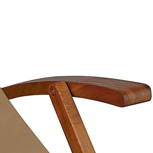 Chaise camping plage pliante en bois tissu for Chaise longue pliante bois tissu