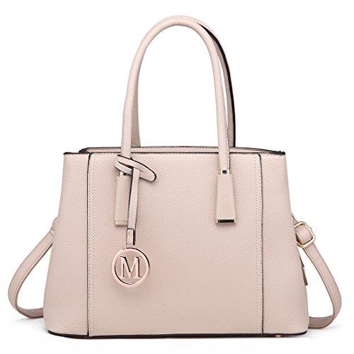 Miss Lulu Handtasche Schultertasche Tote Bag Umhängetasche Shopper Taschen Henkeltasche