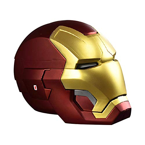 Metal 1: 1-Fernbedienungshelm, tragbar Tony Stark Mark 42 MK43 Cosplay-Maske Requisiten LED-Lichtaugen - Kollektion Display Spielzeugmodell (Farbe : A) ()