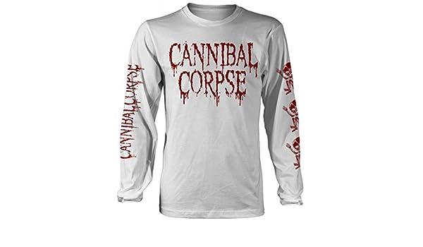 Langarm-Shirt Wei/ß Cannibal Corpse Butchered at Birth
