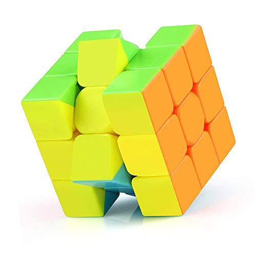 Vdealen Speed Cube Set, Ensemble de Cubes Magiques Roxenda Magic Cube de 2x2x2, 3x3x3 Pyramides Lisses (3x3x3 Stickerless)