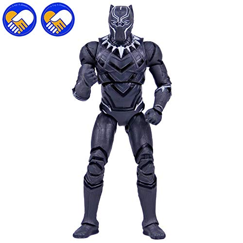 Marvels Avengers Infinity War Iron Spiderman Black Panther Figurine d'action en PVC Spider Man Modèle de Collection 12-17 cm Large Panthère Noire