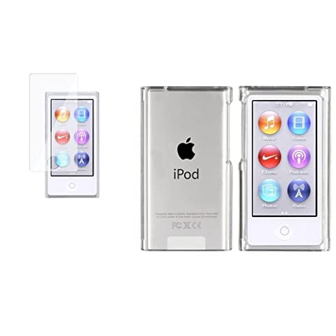 Clair Slim dur coque Housse+2x Protecteur pour iPod Nano 7 7th 7G Gen