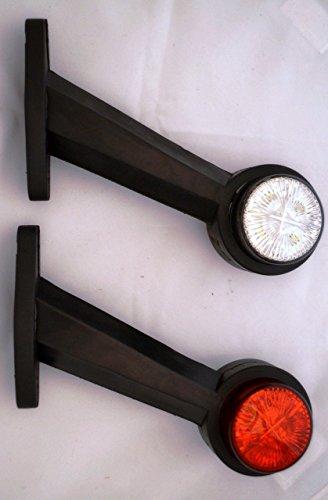 2x Recovery-Seite Umriss-Markierungslichter 12 Volt Weiß Rot Anhänger-LKW-Wohnwagenfahrgestell - Anhänger Led-marker