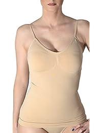 r-dessous 2 Stück Figurformende push up BH Hemdchen Damen Bauchweg shaper Unterwäsche Hemd shapewear hautfarbe