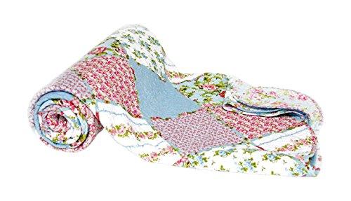 1001Wohntraum 15j10–2Quilt Alexa rústico vintage Colcha Shabby Chic Diseño de patchwork, multicolor, 180 x 220 cm