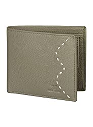 Aditi Wasan Genuine Leather Olive Mens Wallet