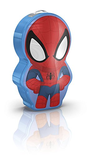 Philips Marvel Spiderman LED Taschenlampe, blau/rot, 717674016