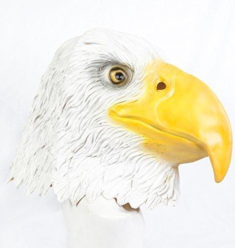 The Rubber Plantation TM 619219293679Latex Eagle Maske Bird of Prey Halloween Fancy Kleid Golden Bald Patriotische USA American Mottoparty, Unisex, ONE SIZE