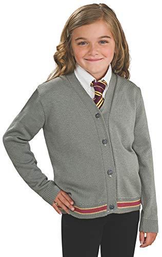 Kostüm Hermine Zubehör - Original Lizenz Harry Potter Hermine Granger Strickjacke und Krawatte Kinderkostüm - Größe 140