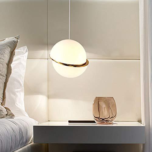 Goeco lampada a sospensione lampadario a sfere acrilico dal design asimmetrico creativo lampada per sala da pranzo, soggiorno (15 cm)