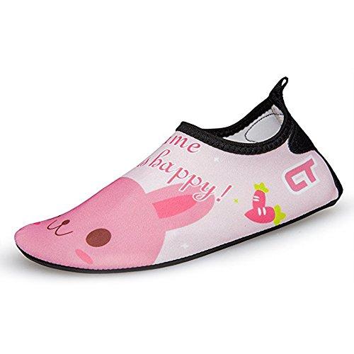 Jackshibo Jovens Sapatos De Praia Menina Crianças Unissex Flutuantes Sapatos Aqua Sapatos Sapatos De Surf Coelho Badeschuhe