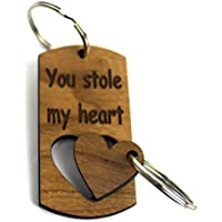 Couples Keyring You Stole My Heart 1st Valentine's Day Anniversary Gift