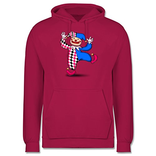 Karneval & Fasching - Tanzender Clown - Männer Premium Kapuzenpullover / Hoodie Fuchsia