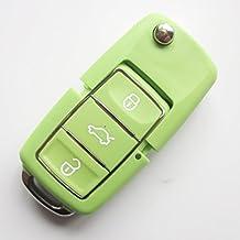 INION® Llave de recambio chasis con colores a elegir. 3Botón Llave de Coche plegables llaves Llave con tipo de en blanco (HAA) mando a distancia inalámbrico Carcasa sin transpondedor o electrónica. Para Volkswagen de