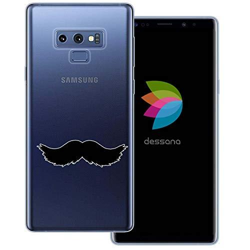 (dessana Mustache Transparente Schutzhülle Handy Case Cover Tasche für Samsung Galaxy Note 9 Walross Bart)