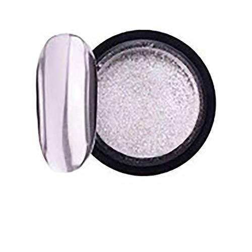 P12cheng Spiegel-Nagelglitzerpuder - 2 ml Super Shine Ultra Thin Metallic Nail Art Pulver Spiegeleffekt Nagelpigment für DIY Magic Maniküre Decor Titanium Silver -
