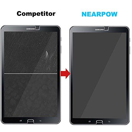 Samsung Galaxy Tab A 10.1 Panzerglas Displayschutzfolie, Nearpow Schutzfolie 9H Härte, Anti-Kratzen, Anti-Öl, Anti-Bläschen, Anti-Fingerabdruck - 5
