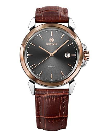 Jowissa LeWy 3 Swiss J4.237.L - Reloj de Pulsera para Hombre, Color Gris, marrón y Plateado