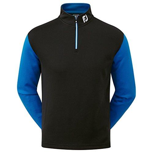 Golf Lambswool (FootJoy Lambswool V-Neck Pullover Black/Cobalt XXL)