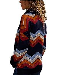 BBestseller Mujer Otoño E Invierno Jersey Long Pullover Suéter Punto Texturizado con Cuello Alto Elegante Clásico