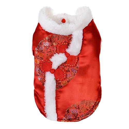 Moodn Kostüm Hund Kostüm Für Haustiere Cute Herbst Winter Bequemes Weiches Party Tang Anzug Für Kleine Hunde Kleidung Modern Leichte Dicke Costume Einfach Kleidung Lässig Sale Neujahr (Einfach Bequeme Kostüm)