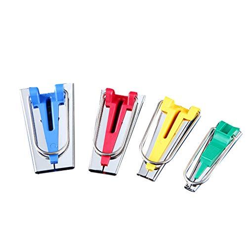 FiedFikt Schrägband-Set, 4 Größen, 6 mm, 12 mm, 18 mm, 25 mm, Stoff Nähen, Quilten, Schrägband (Nähmaschinen-reparatur-kit)