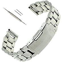 24mm Acero inoxidable reloj de pulsera banda Correa + destornillador para Sony SmartWatch 2 SW2-plata