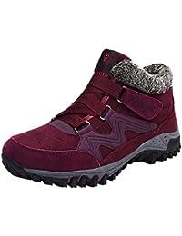 Männer Frauen Winter Warme Stiefel Schnee Hochhaus Stiefel Trekking Boots Wanderschuhe Winterstiefel Rutschfest Outdoor Mit Klettverschluss