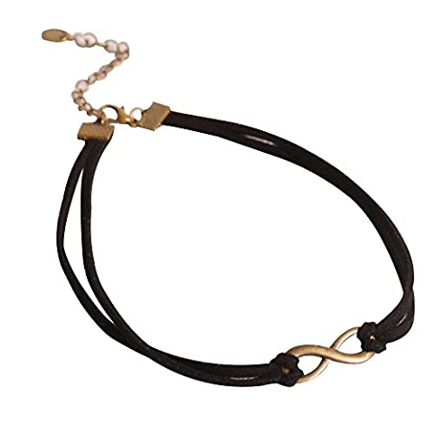 Contever® Gothic Vintage Classic Necklace Black Jewel Choker For Women Lady - Style 4